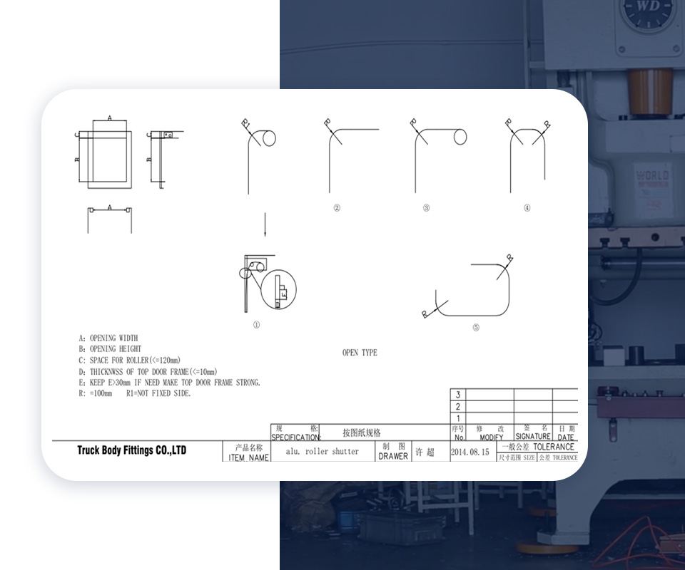 TBF equipment metal roll up door for business for Van-1